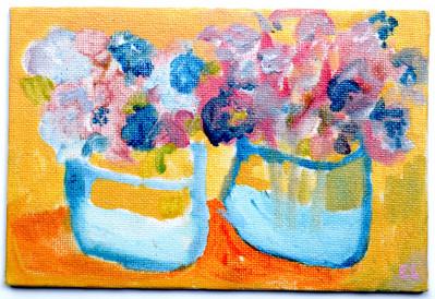 Two Vases with Hydrangeas