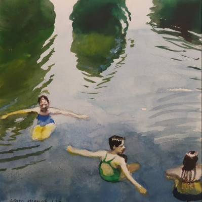 River swimmers trio
