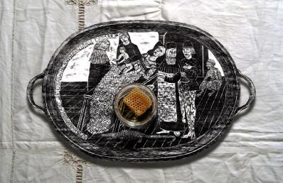 Birthing Tray - Honey