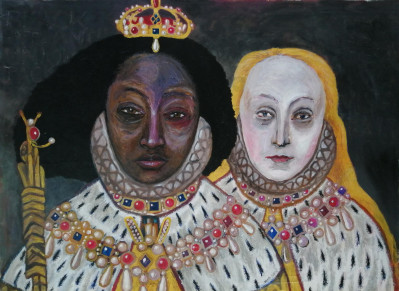 Elizabeth I and her (white) double