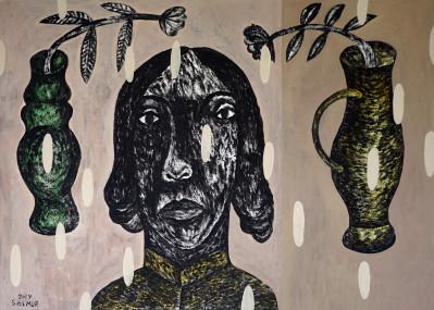 Miriam and 2 vases
